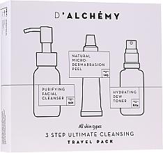 Perfumería y cosmética Set facial (toner/30ml+ gel limpiador/50ml+ peeling/15ml) - D'Alchemy 3 Step Ultimate Cleansing Travel Pack