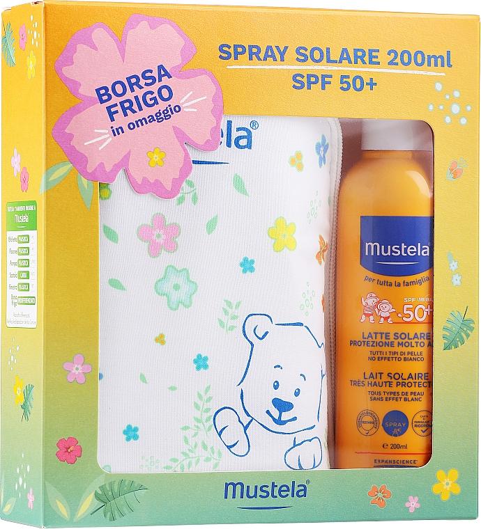 Mustela Bebe Solare - Set para bebés (leche solar SPF 50+/200ml + bolso)