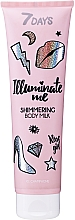 Perfumería y cosmética Leche corporal iluminadora con aceite de melocotón - 7 Days Illuminate Me Shimmering Body Milk