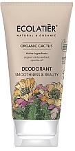 Perfumería y cosmética Desodorante en crema con extracto de cáctus - Ecolatier Organic Cactus Deodorant