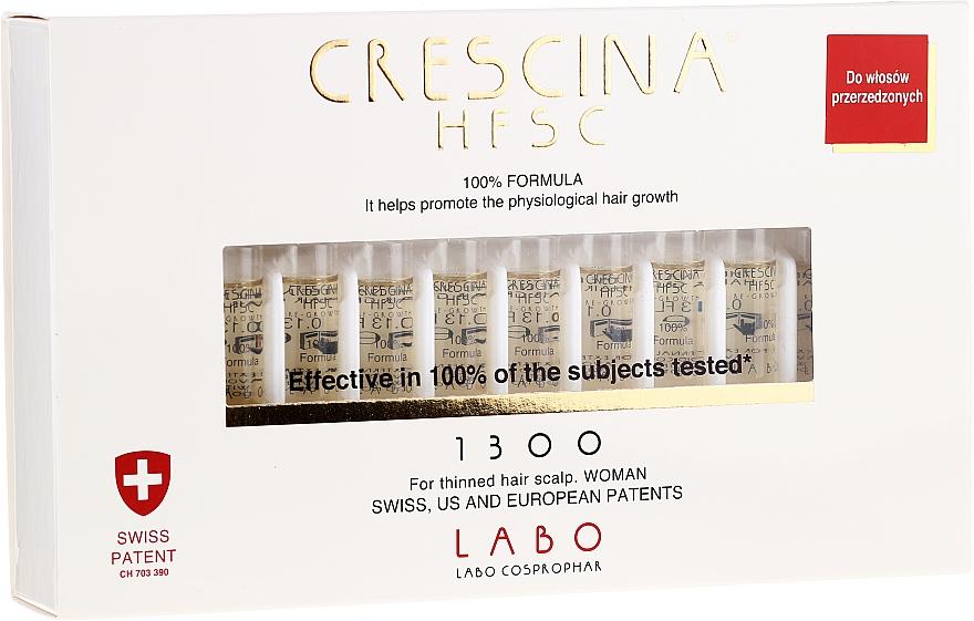 Tratamiento para crecimiento fisiológico del cabello con ingredientes activos 1300 - Labo Crescina HFSC Re-Growth 1300