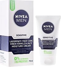 Perfumería y cosmética Crema aftershave con vitamina E, sin alcohol - Nivea For Men Sensitive Moisture Cream