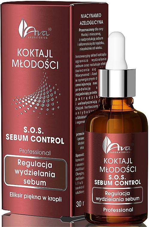 Elixir facial seborregulador con niaciamida & aceite de ábrol de té - Ava Laboratorium S.O.S Sebum Control