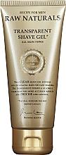Perfumería y cosmética Gel de afeitar transparente con alantoína y mentol - Recipe For Men RAW Naturals Transparent Shave Gel