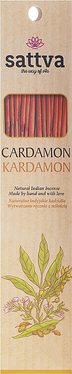 Varitas de incienso con aroma a cardamomo - Sattva Kardamon