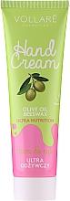 Perfumería y cosmética Crema ultrahidratante de manos con cera de abeja y aceite de oliva - Vollare Cosmetics De Luxe Hand Cream Ultra Nutrition