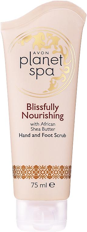 Exfoliante de manos y pies con manteca de karité - Avon Planet Spa Scrub
