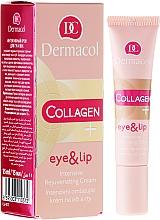 Perfumería y cosmética Crema rejuvenecedora para contorno de ojos y labios con colágeno - Dermacol Collagen+ Eye & Lip Cream