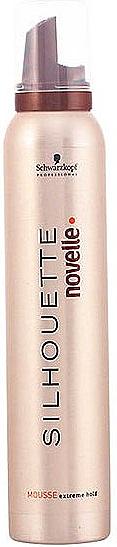 Mousse para cabello, fijación extrema - Schwarzkopf Professional Silhouette Novelle Mousse Extreme Hair — imagen N1