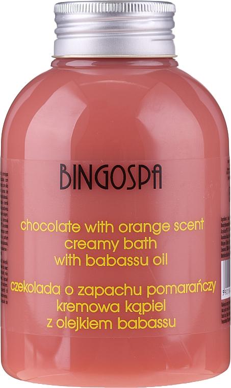 Crema de baño con aceite de babasú y aroma a chocolate y naranja - BingoSpa Creamy Chocolate Bath With Orange Oil