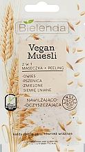 Perfumería y cosmética Mascarilla facial y peeling de trigo y semilla de lino - Bielenda Vegan Muesli