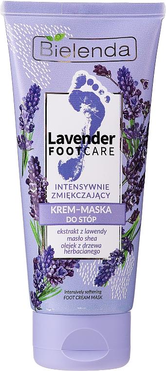 Mascarilla crema para pies con extracto de lavanda, manteca de karité y aceite de árbol de té - Bielenda Lavender Foot Care Foot Cream Mask