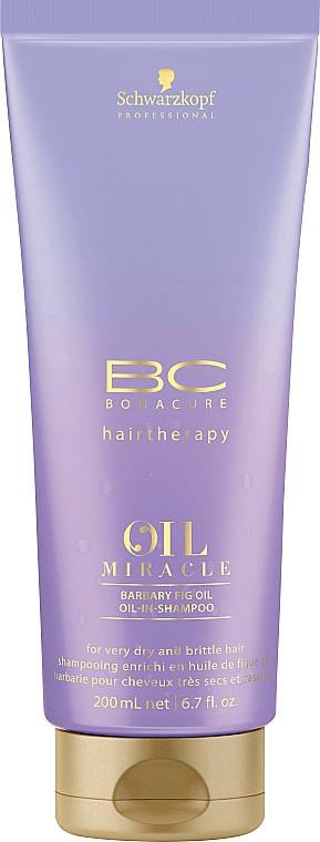 Champú regenerador con aceite de higo y queratina - Schwarzkopf Professional Bonacure Oil Miracle Barbary Fig Oil Shampoo
