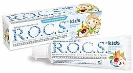 Perfumería y cosmética Pasta de dientes para niños con sabor a postre con frutas, sin flúor - R.O.C.S. Kids