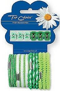 Set gomas y pinzas de pelo 28144, 6+12uds. - Top Choice