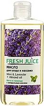 Perfumería y cosmética Aceite de masaje con almendras y extracto de menta y lavanda - Fresh Juice Energy Mint&Lavender+Almond Oil