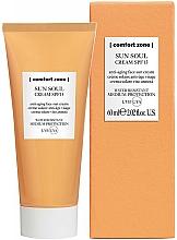 Perfumería y cosmética Crema de protección solar con aceite de almendras dulces, resistente al agua SPF 15 - Comfort Zone Sun Soul Face Cream SPF 15