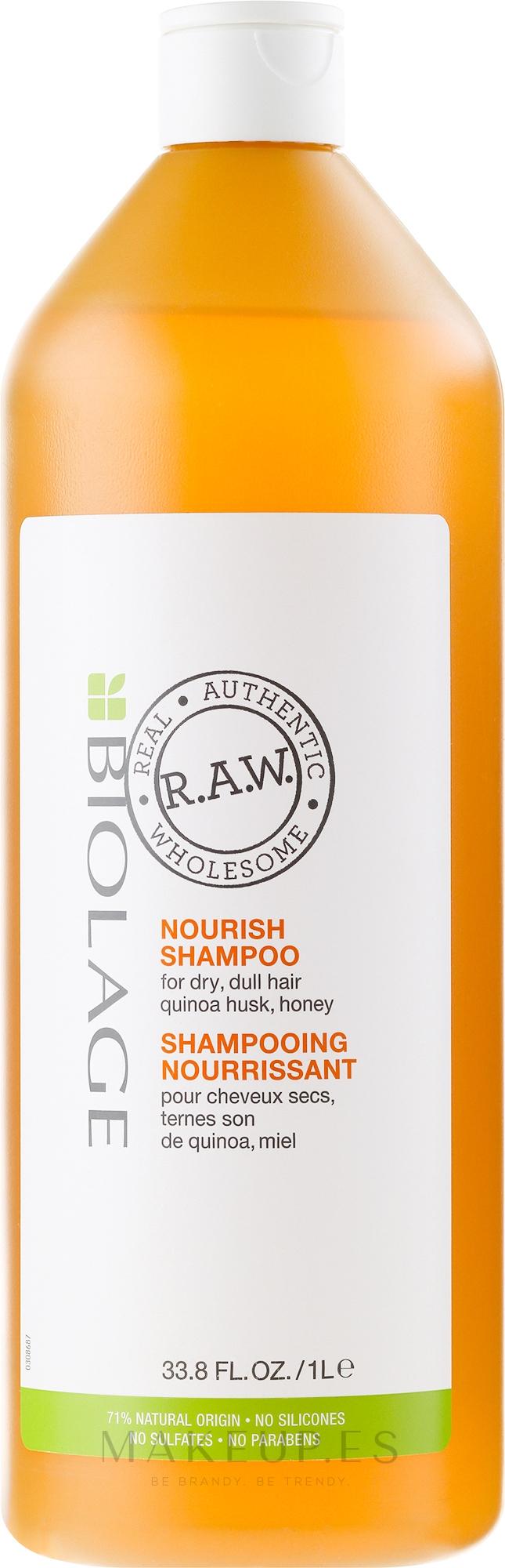 Champú reparador con quinoa y miel - Biolage R.A.W. Nourish — imagen 1000 ml