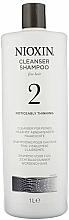 Perfumería y cosmética Champú profesional dermolimpiador con aceite de menta - Nioxin Thinning Hair System 2 Cleanser Shampoo
