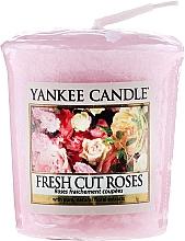 Perfumería y cosmética Vela aromática rosas frescas - Yankee Candle Scented Votive Fresh Cut Roses