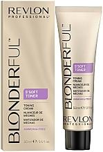 Perfumería y cosmética Crema matizadora de mechas rubias , sin amoníaco (5min) - Revlon Professional Gentle Meches Soft Toner Cream