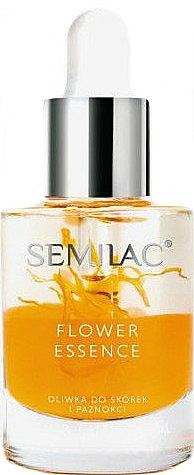 Aceite para uñas y cutículas con melocotón, argán y pétalos de caléndula - Semilac Flower Essence Orange Strength