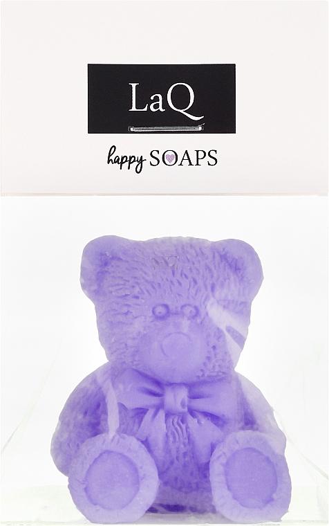 Jabón artesanal con karité, aroma a lavanda, osito - LaQ Happy Soaps Natural Soap