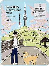 Perfumería y cosmética Mascarilla facial de tejido a base de niacinamida y extracto de cereza - Skin79 Seoul Girl's Beauty Secret Mask Brightening