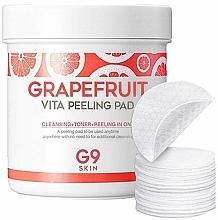 Perfumería y cosmética Discos faciales exfoliantes de algodón con extracto de pomelo - G9Skin Grapefruit Vita Peeling Pad