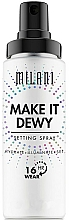 Perfumería y cosmética Spray fijador de maquillaje vegano hidratante de larga duración 3 en 1 - Milani Make It Dewy 3-In-1 Setting Spray Hydrate + Illuminate + Set