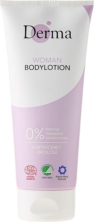 Loción corporal eco con aceite de semilla de albaricoque y aloe - Derma Eco Woman Body Lotion — imagen N1