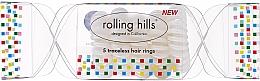 Perfumería y cosmética Coletero espiral, transparente, 5 uds. - Rolling Hills 5 Traceless Hair Rings Cracker