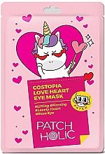 Perfumería y cosmética Parches hidratantes para contorno de ojos con extracto de rosa - Patch Holic Costopia Love Heart Eye Mask