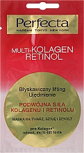 Perfumería y cosmética Mascarilla para rostro, cuello y escote con complejo petídico, retinol - Perfecta Multi-Kolagen Retinol