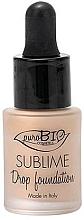 Perfumería y cosmética Base de maquillaje con extracto de argán - PuroBio Sublime Drop Foundation