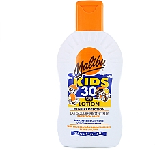 Perfumería y cosmética Leche hipoalergénica de portección solar infantil, resistente al agua - Malibu Sun Kids Lotion SPF30