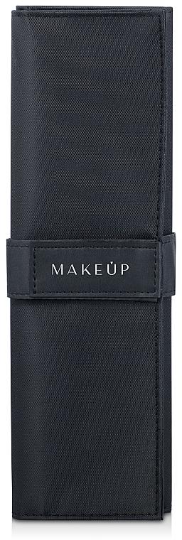 Funda para 10uds. de brochas y pinceles de maquillaje (vacía), negra - Makeup Basic