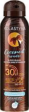 Perfumería y cosmética Aceite protector solar con aroma a coco - Kolastyna Coconut Paradise Oil SPF30