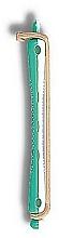 Perfumería y cosmética Rulos para permanente rizada , blanco-verdoso con beige , 9.5cm, d0.8cm, 12 uds. - Donegal Hair Curlers