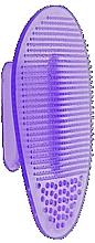 Perfumería y cosmética Cepillo de silicona para masaje y limpieza facial, violeta - Killys