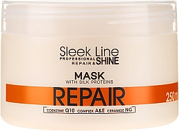 Perfumería y cosmética Mascarilla capilar reparadora con proteínas de seda, coenzima Q10 y ceramidas - Stapiz Sleek Line Repair Hair Mask