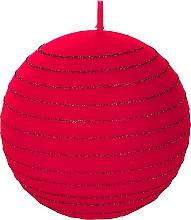 Perfumería y cosmética Vela decorativa, bola roja, 8 cm - Artman Andalo
