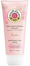 Perfumería y cosmética Crema de ducha con mentaca de karité, aroma a rosa - Roger & Gallet Rose Gentle Shower Cream Relaxing