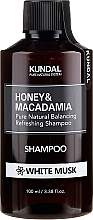 Perfumería y cosmética Champú con extracto de miel y aceite de macadamia, aroma a musgo blanco - Kundal Honey & Macadamia Shampoo White Musk