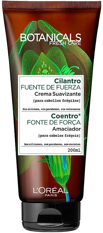 Crema suavizante para cabello con aceite de cilantro - L'oreal Paris Botanicals Fuente de Fuerza Cabellos Fragiles — imagen N1