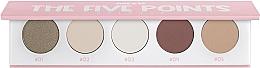Perfumería y cosmética Paleta de sombras de ojos, 5 colores - Miyo Five Points Palette