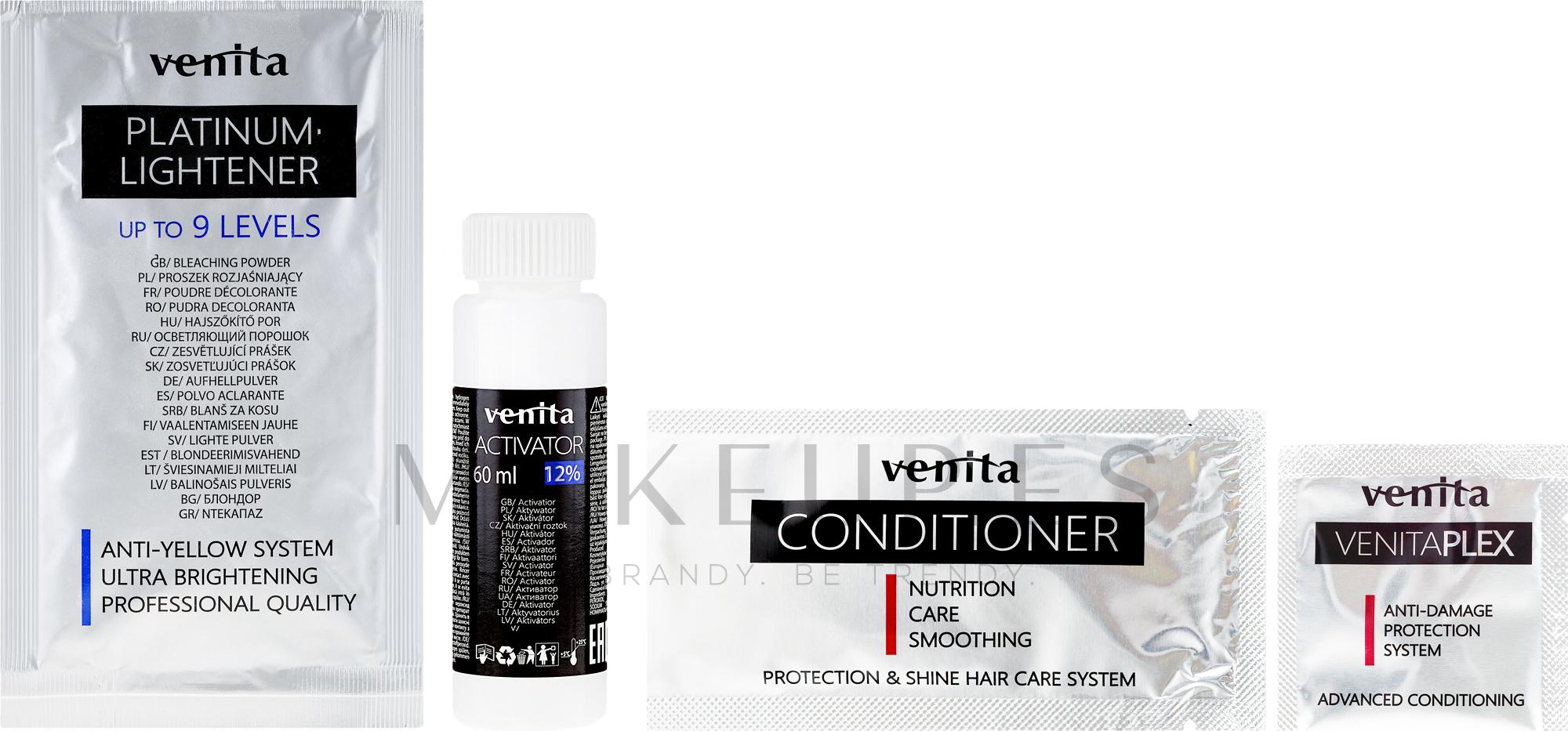 Decolorante hasta 9 tonos - Venita Plex Platinum Lightener — imagen 10.01 - Ash Blond
