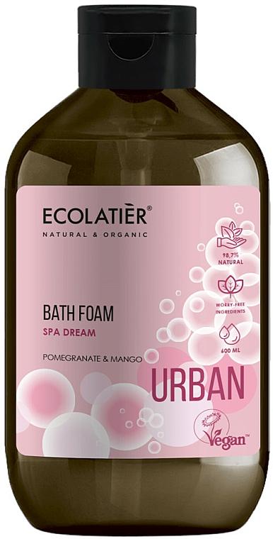Espuma de baño con extractos de granada y mango, vegana - Ecolatier Urban Bath Foam
