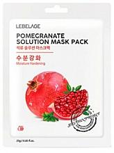 Perfumería y cosmética Mascarilla facial de tejido hidratante con extracto de granada - Lebelage Pomegrante Solution Mask