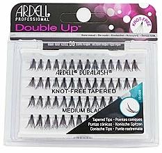 Perfumería y cosmética Pestañas postizas individuales - Ardell Double Up Soft Touch Knot- Free Medium Black